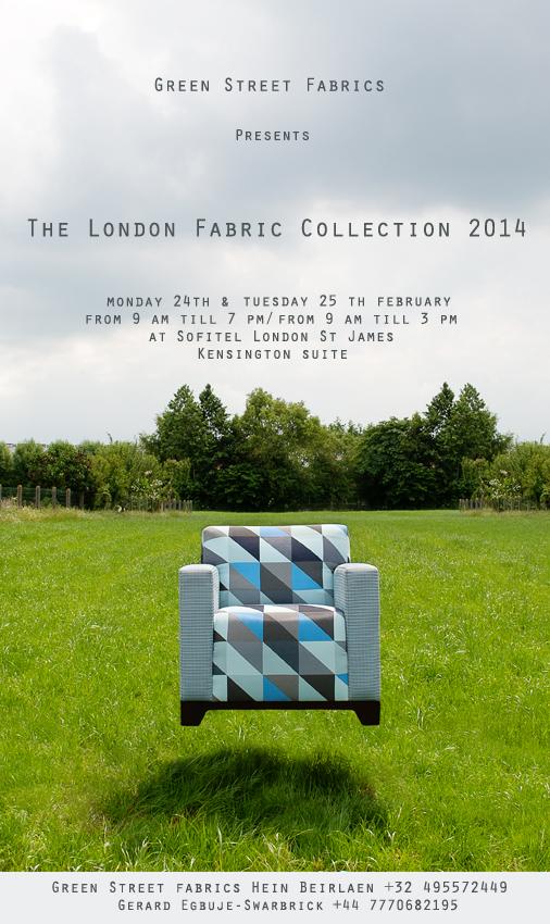 uitnodiging Greenstreet LondenFabrics 2014